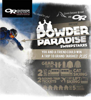 Pwoder Paradise Contest WIN 2 Days of Catskiing