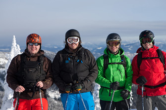 Geoff, John, Adam, and Todd from Catskiing.ca