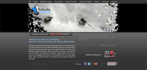 New Website for Valhalla Powder Cats
