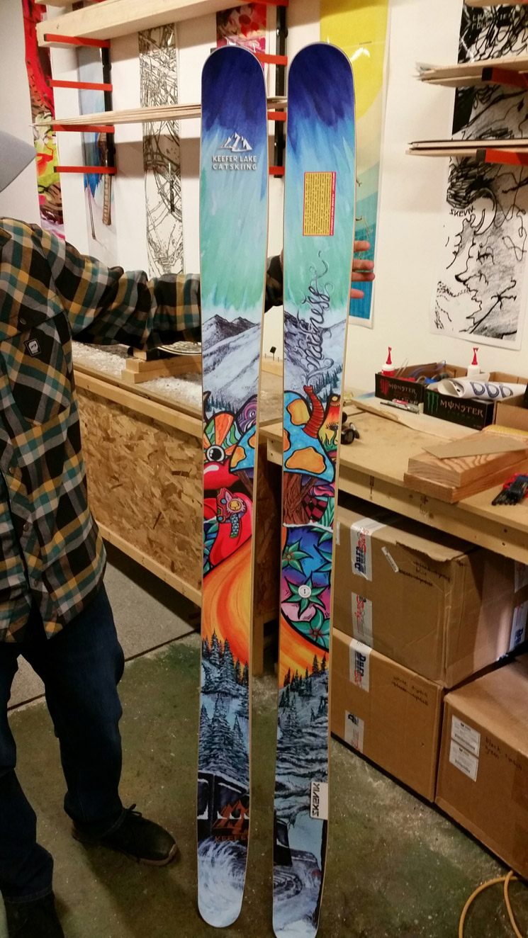 New Custom Skevik Skis for Keefer Lake Catskiing