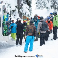 Loading up the snowcat at Valhalla Powdercats