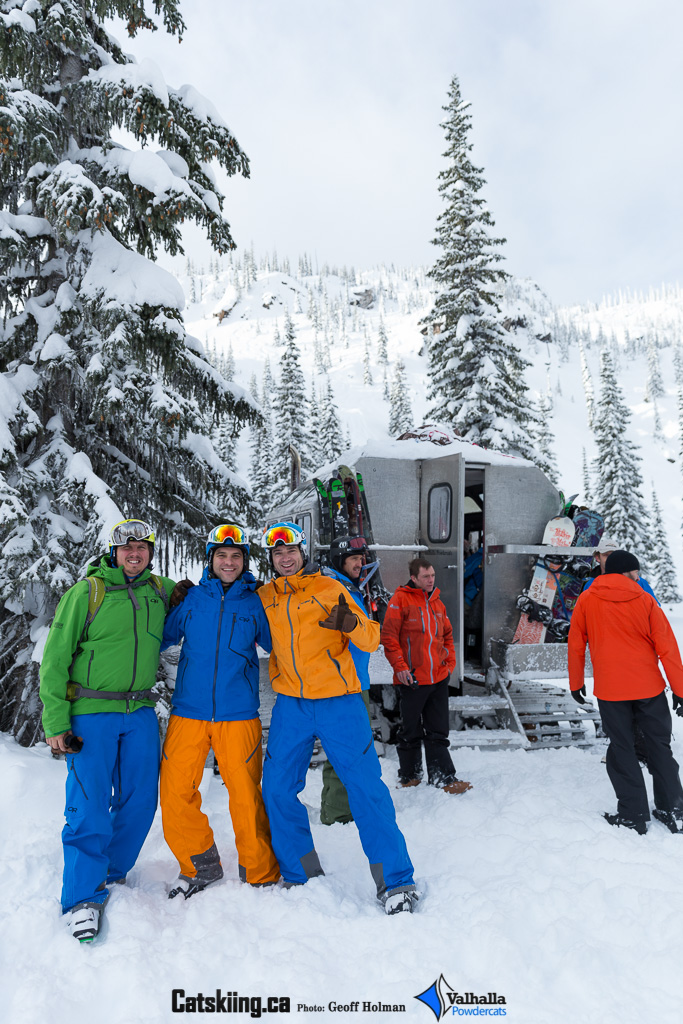Catskiing Canada Crew hamming it up - Valhalla Powdercats